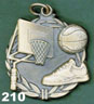 210 basketball medal
