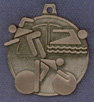 243 triathlon medal