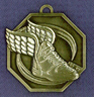 908 winged boot front medal